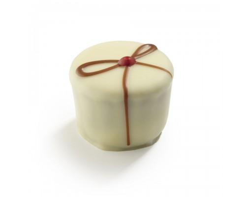 La Chocolate malinin ganache v beli čokoladi