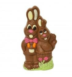 Velikonočna figura zajčji par LAChocolate.si