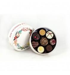 Mala La Chocolate božična bonboniera za 8 pralinejev